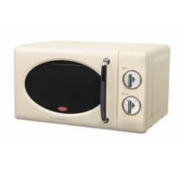 EMW 3201T Mechanical Retro 20L Microwave - Retro Creme