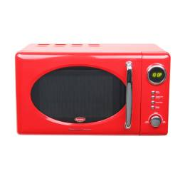 EMW 3202T Digital Retro 20L Microwave With Grill - Cherry Red